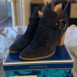 Navy Suede Boot size 8.5
